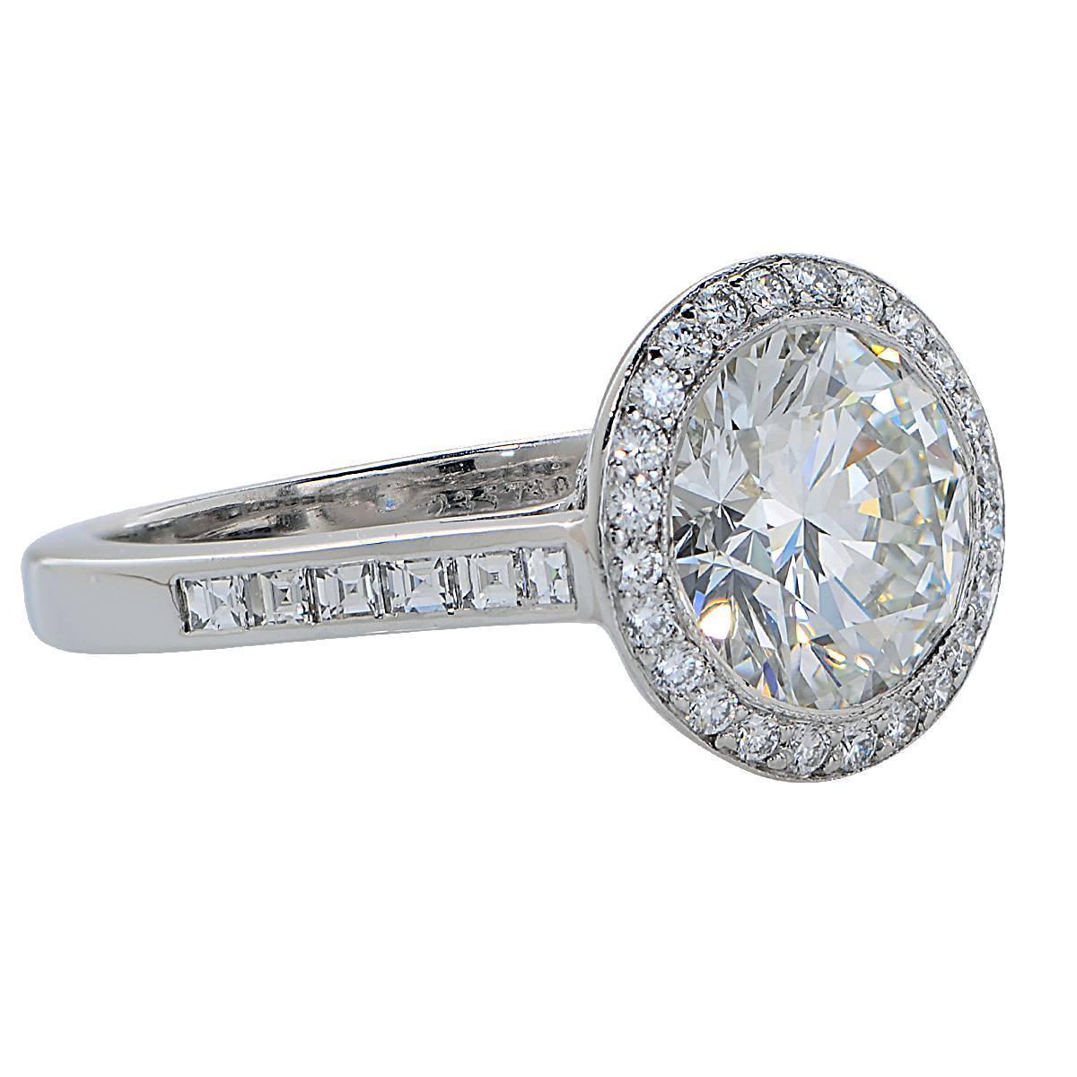 Tiffany and Co 2 47 Carat Diamond Platinum Engagement Ring at 1stdibs