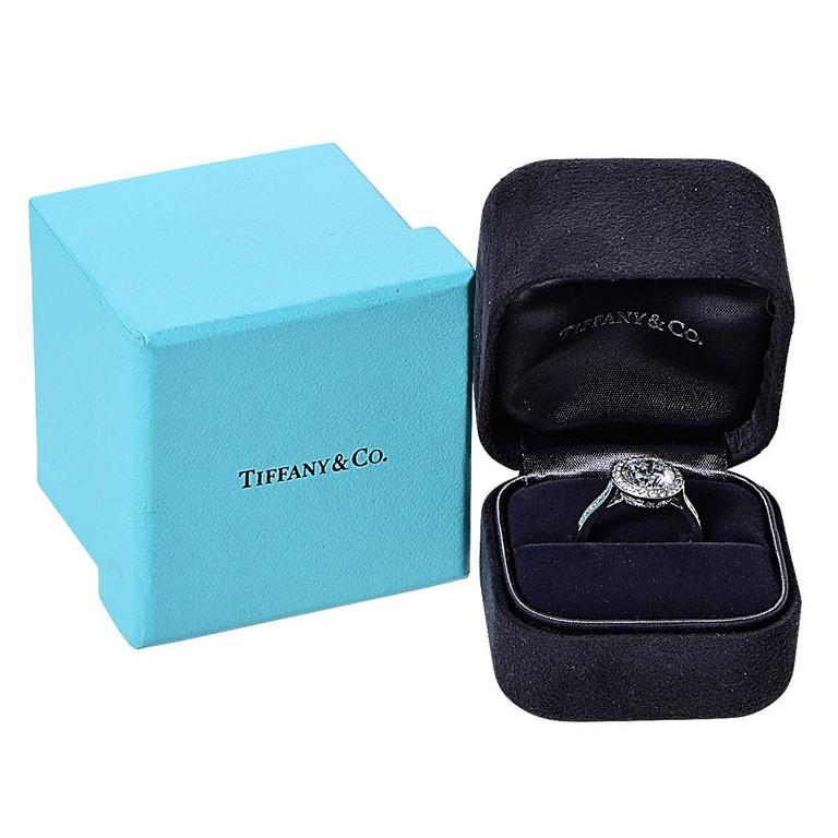 Tiffany & Co. 2.47 Carat Diamond Platinum Engagement Ring 6