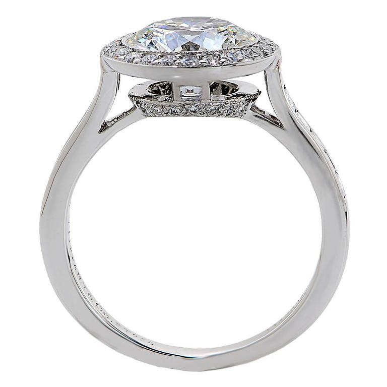 Tiffany & Co. 2.47 Carat Diamond Platinum Engagement Ring 4