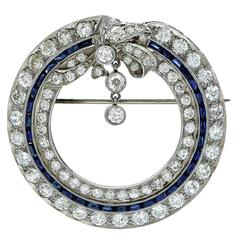 Exceptional 4.25 Carat Art Deco Diamond Brooch