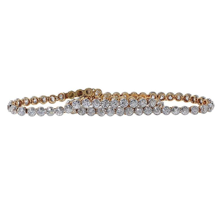 Tiffany & Co. Art Deco diamond gold platinum Bracelet 3