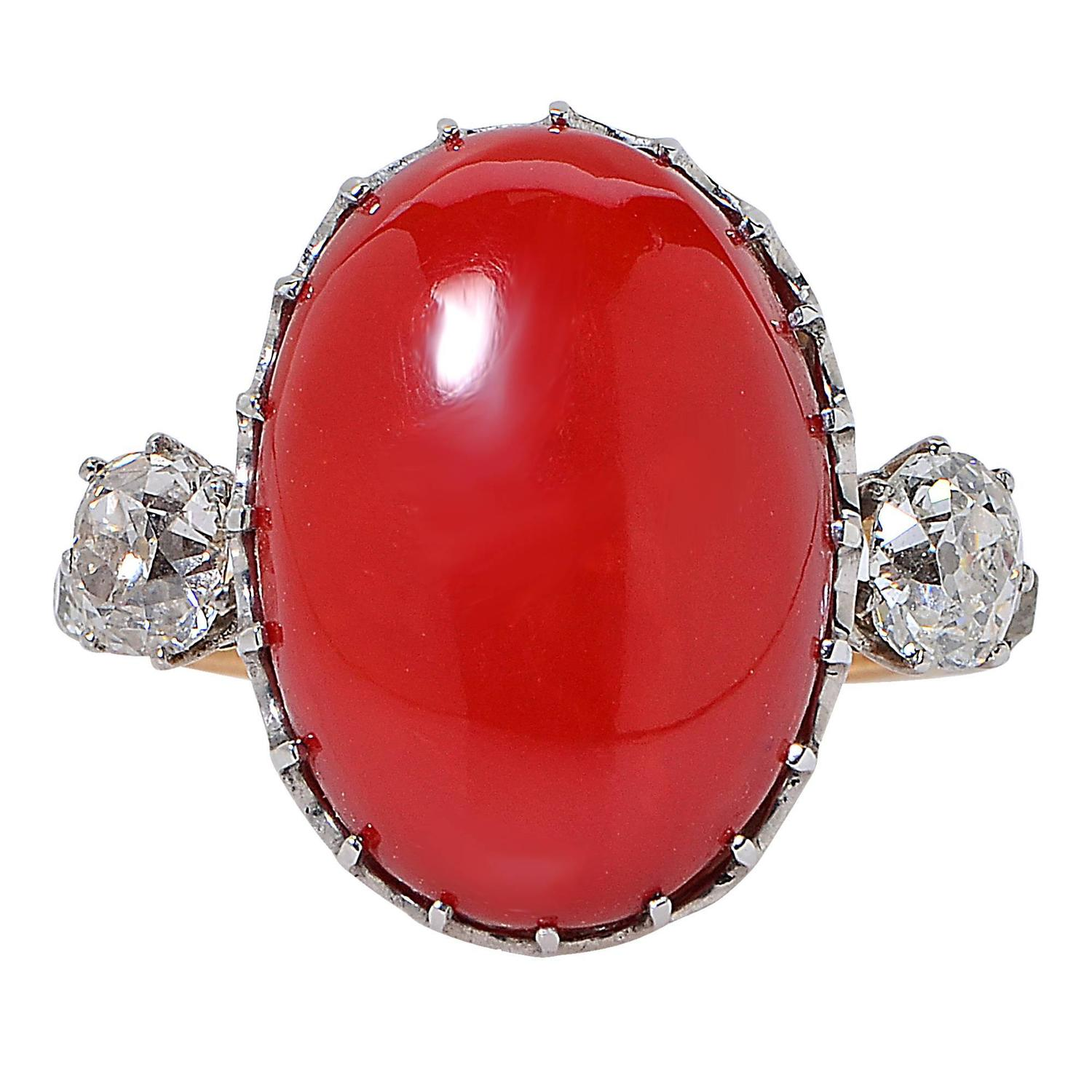 antique coral and ring at 1stdibs