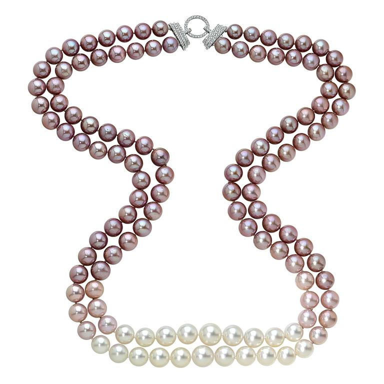 multicolor pearl necklace at 1stdibs