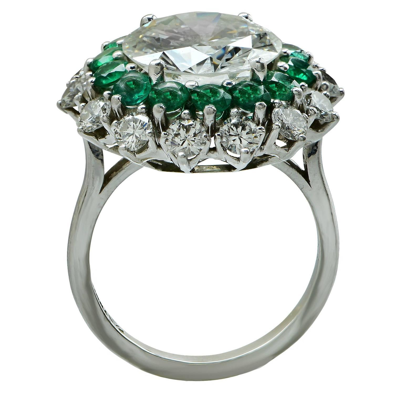 emerald platinum ring at 1stdibs