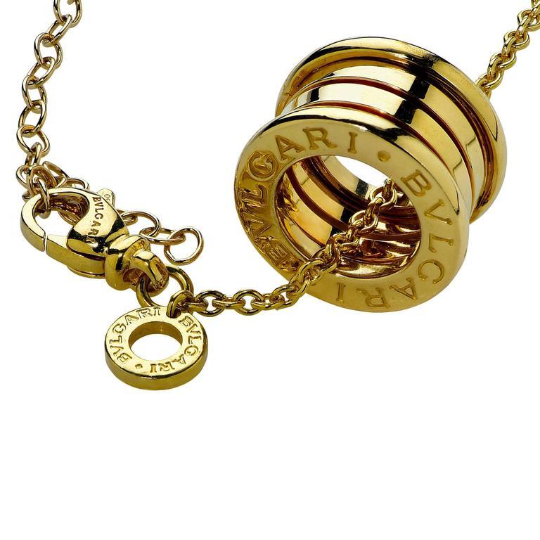 bulgari b zero pendant and yellow gold chain at 1stdibs