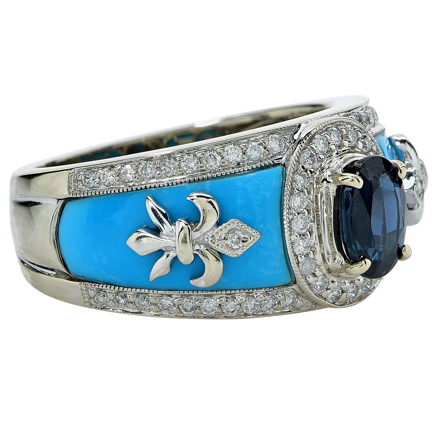 turquoise gold ring at 1stdibs