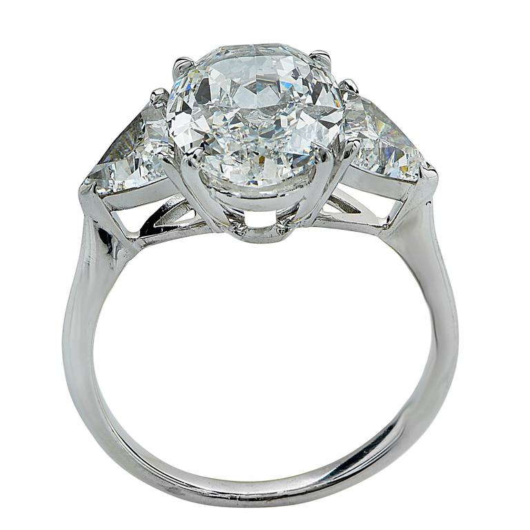 2 82 Carat GIA Cert Oval Diamond Platinum Engagement Ring at 1stdibs