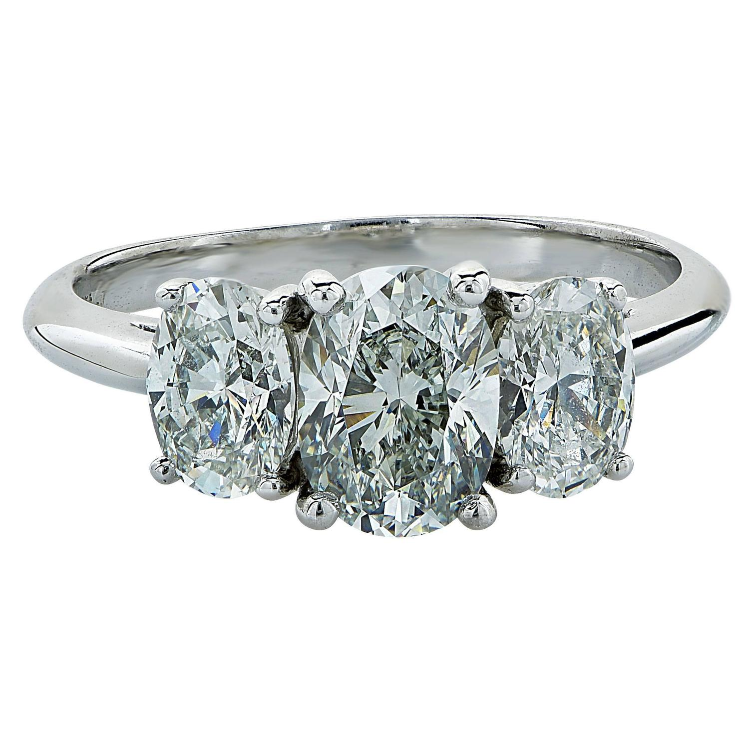 Tiffany and Co 2 21 Carat Diamond Platinum Engagement Ring at 1stdibs
