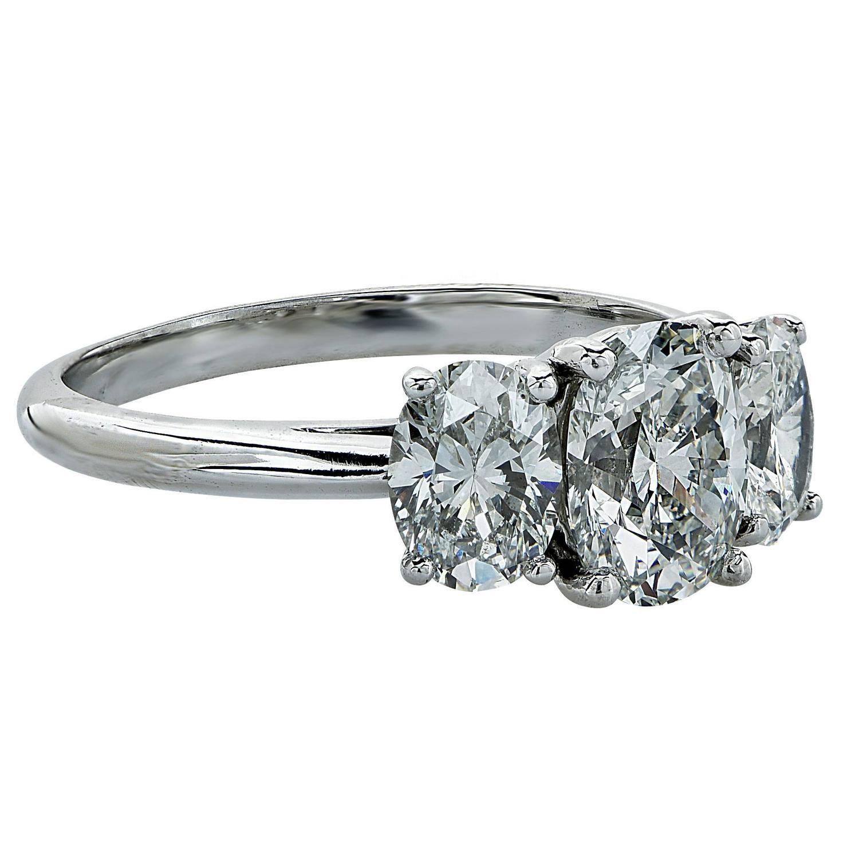 Tiffany and Co 2 21 Carat Diamond Platinum Engagement Ring at 1stdibs