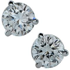 .83 Carat Total Weight Diamonds Solitaire Stud Earrings