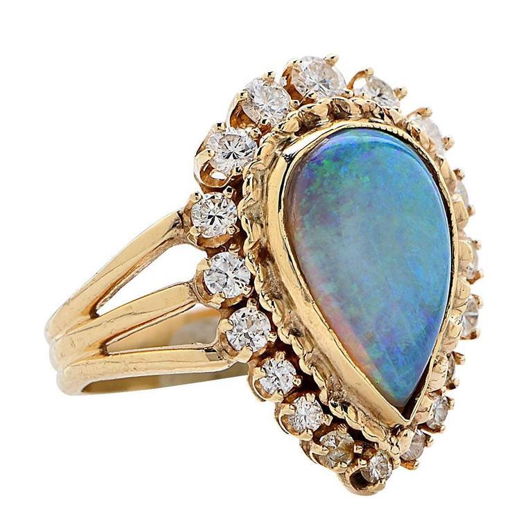 opal gold ring at 1stdibs