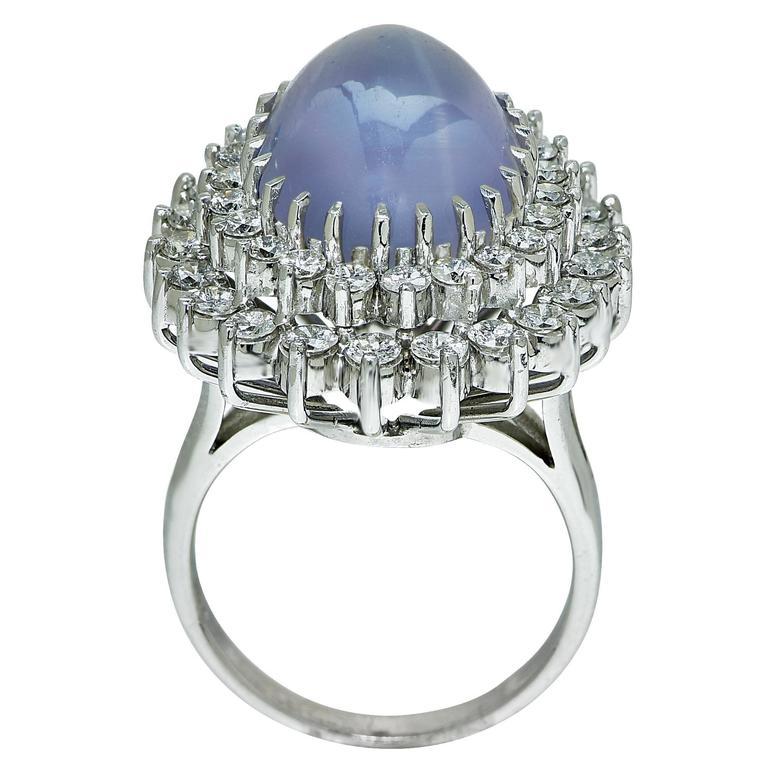 Star Sapphire Diamond Gold Ring 4