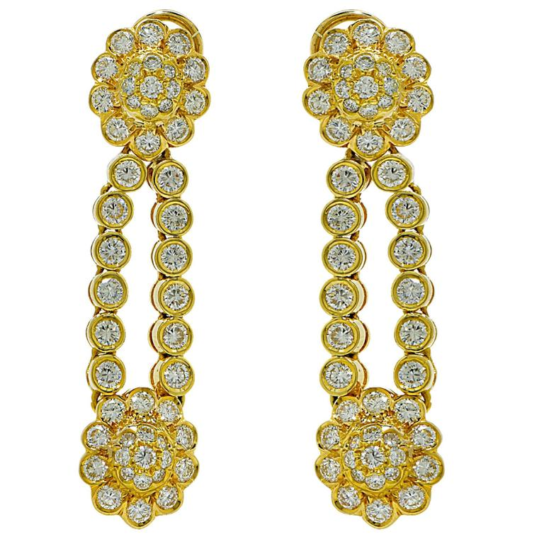 9.60 Carats Diamonds Gold Necklace and Earring Set 4