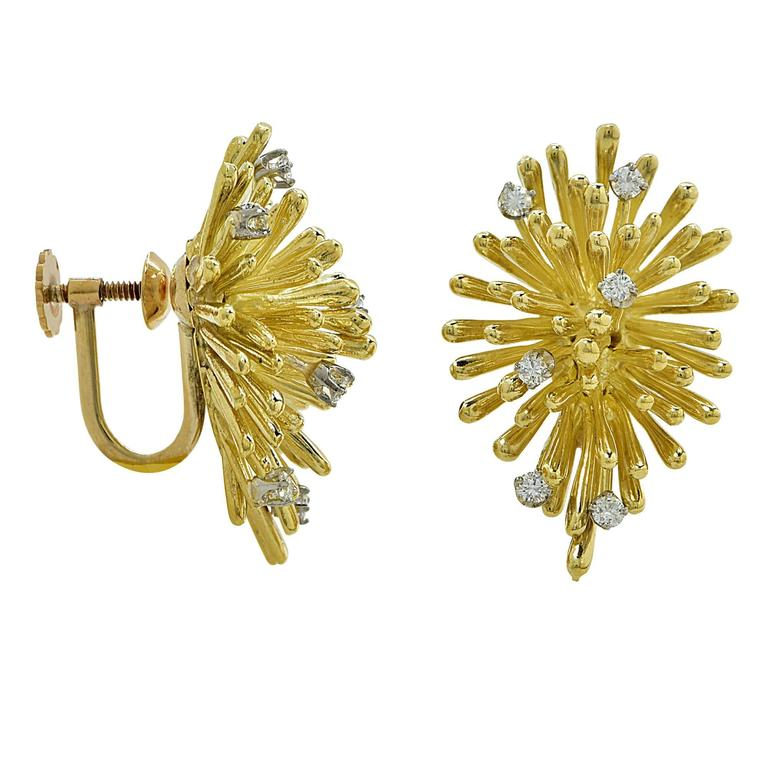 Diamond Gold Earrings 2
