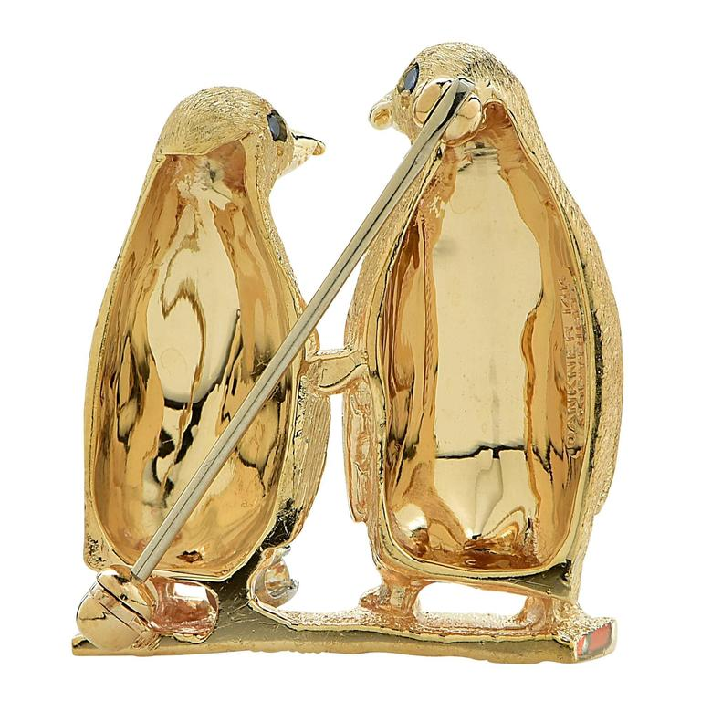 item tiffany full brooch silver co estate s penguin lippa fine and f