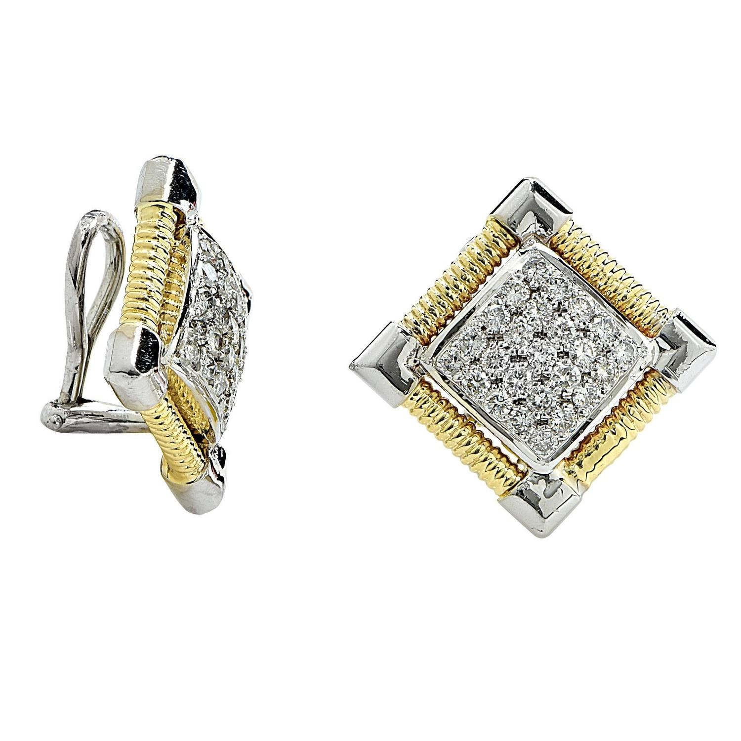 1 carat stud earrings sale 1 15 carat gold stud earrings for sale at 1stdibs 5986