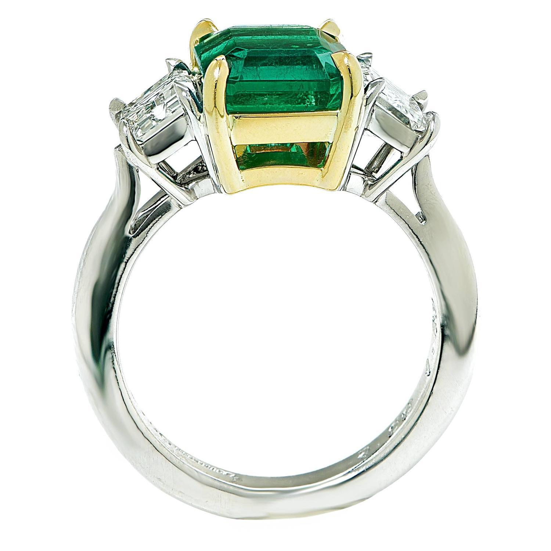 beautiful emerald and three ring
