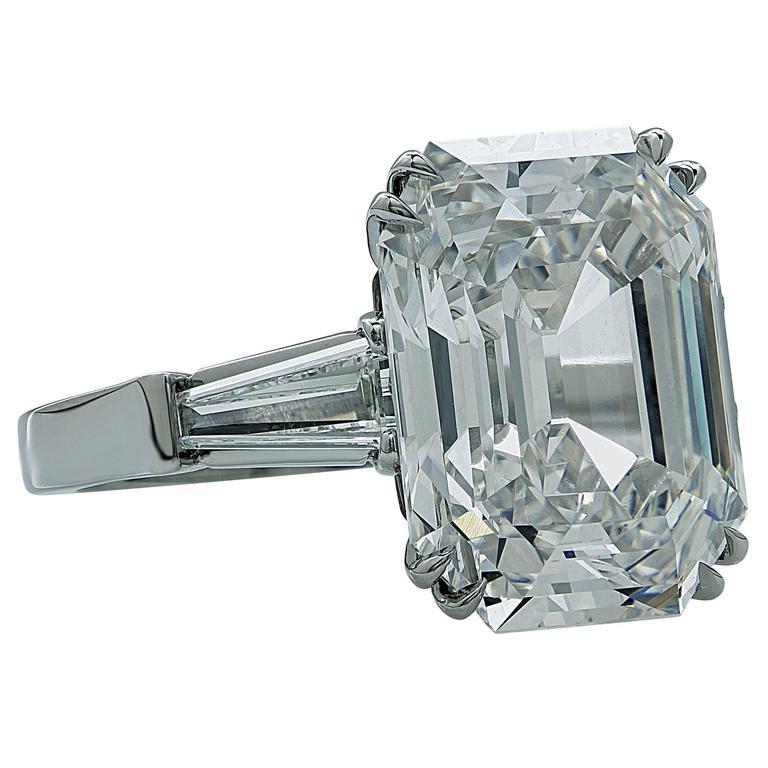 GIA Certified 10.21 Carat Emerald Cut Diamond Engagement Ring 3