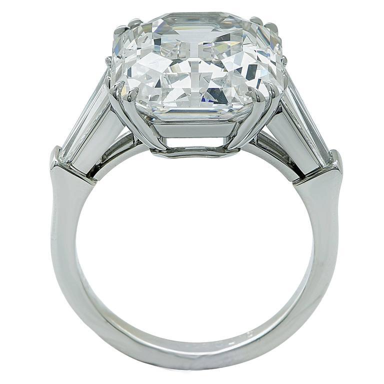 GIA Certified 10.21 Carat Emerald Cut Diamond Engagement Ring 4