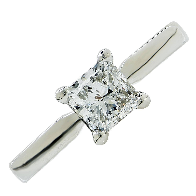 1 carat f si2 princess cut solitaire engagement ring