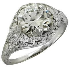 Art Deco 2.05 Carat Diamond Engagement Ring, circa 1930s