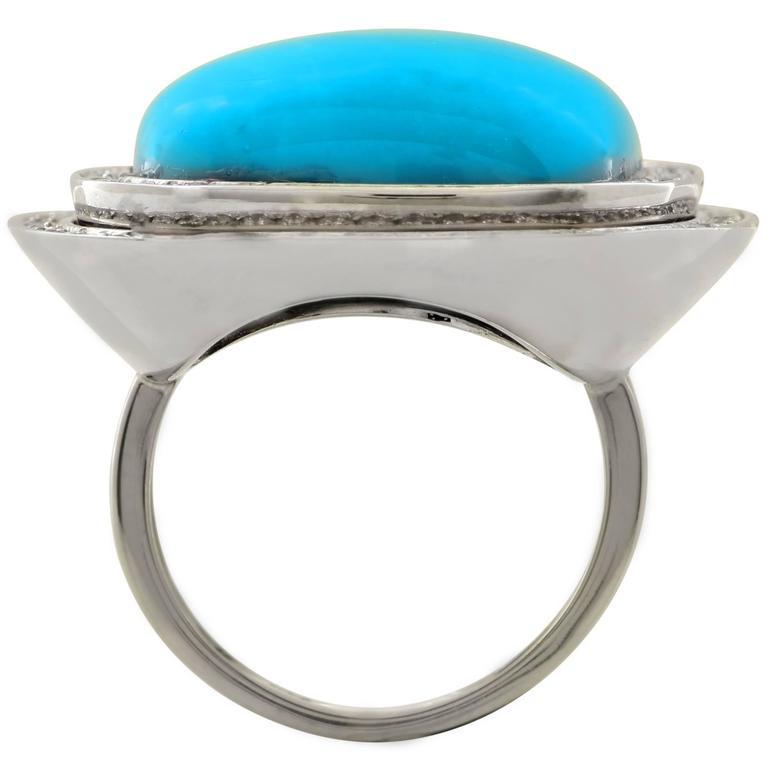 turquoise white gold ring at 1stdibs