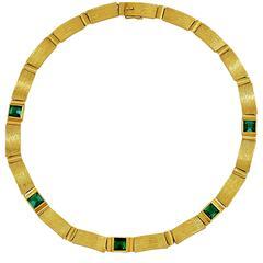 Tourmaline Gold Necklace