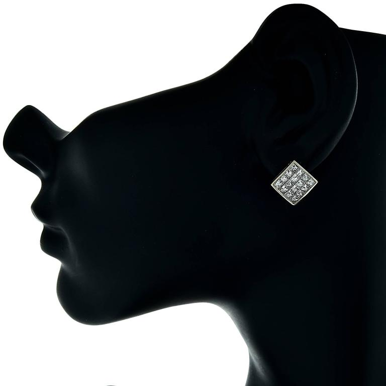 3.20 Carat Diamond Stud Earrings In Excellent Condition For Sale In Miami, FL