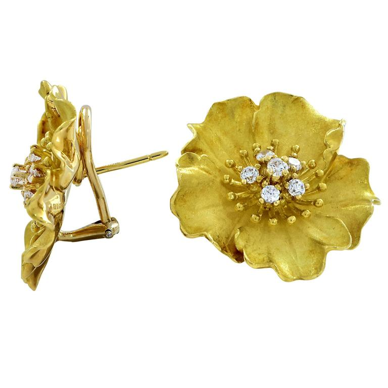 Tiffany & Co. Alpine Rose Diamond Earrings 2