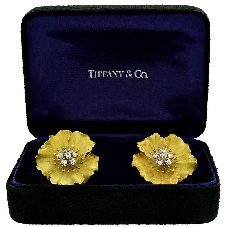 Tiffany & Co. Alpine Rose Diamond Earrings 3