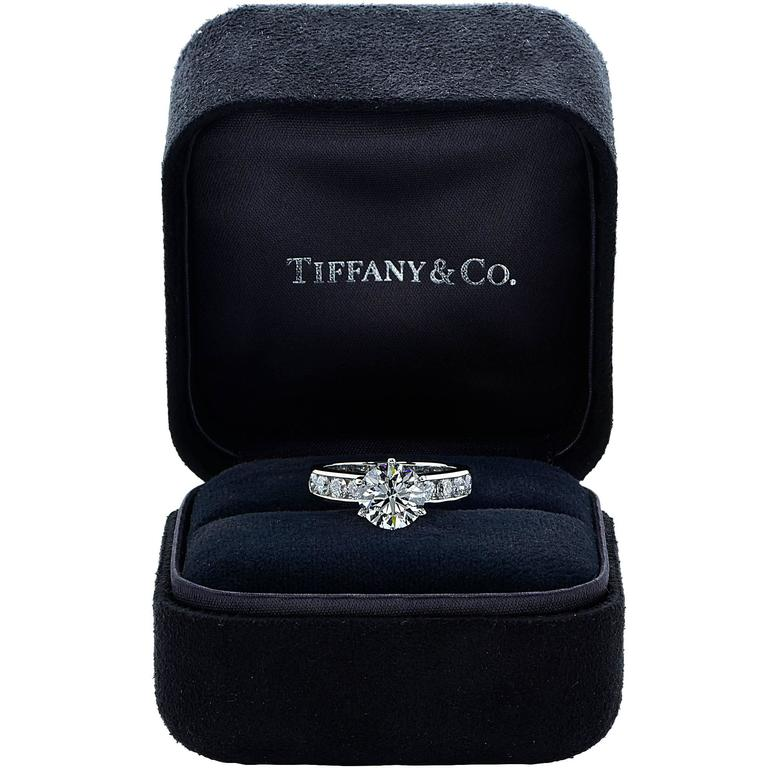 Tiffany & Co. Stunning 3.15 Carat Diamond Engagement Ring 2