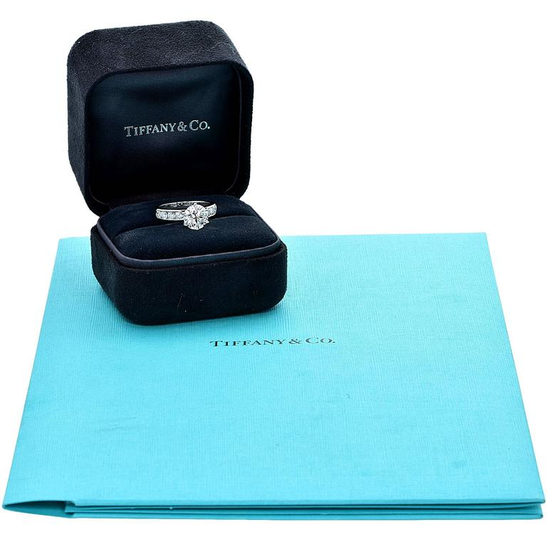 Tiffany & Co. Stunning 3.15 Carat Diamond Engagement Ring 3