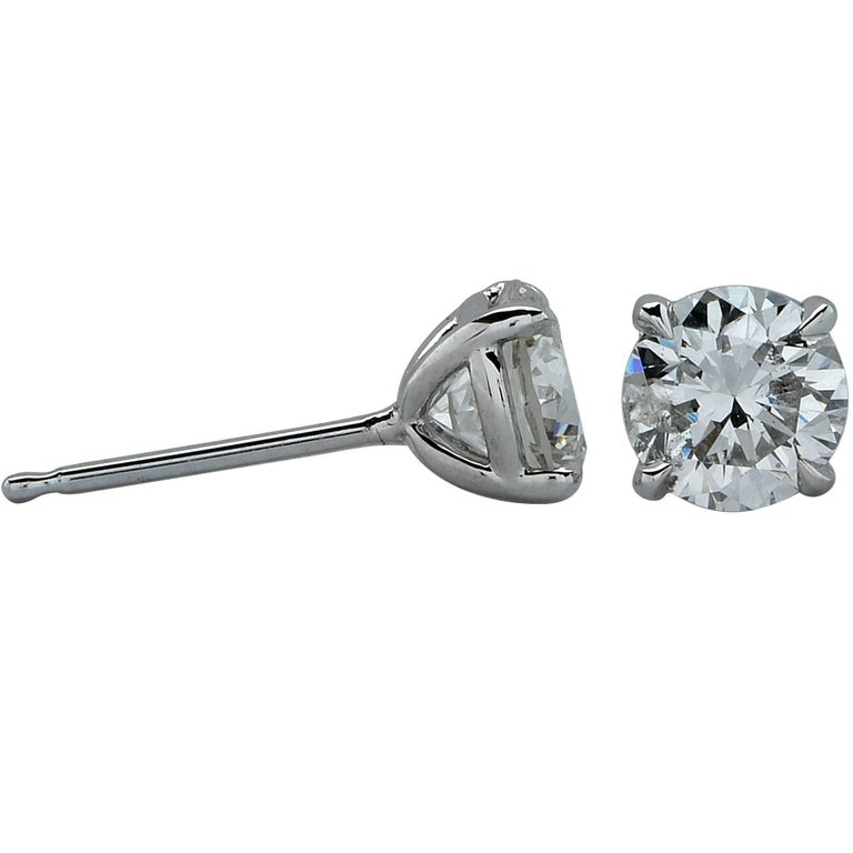 1 carat stud earrings sale 1 carat solitaire stud earrings for sale at 1stdibs 3422