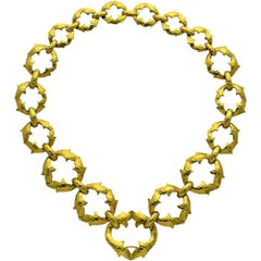 David Webb Thorn Gold Necklace Bracelet Set