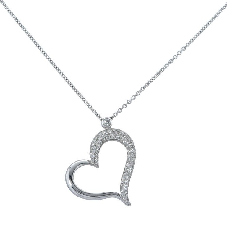 1 carat diamond heart pendant and necklace at 1stdibs modern 1 carat diamond heart pendant and necklace for sale aloadofball Image collections