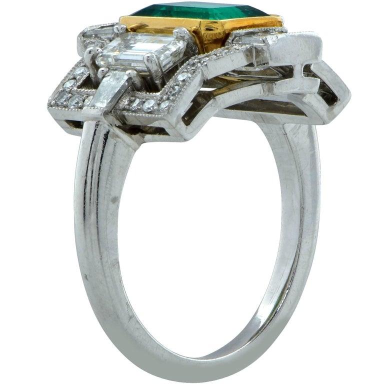 3.05 Carat Emerald and Diamond Ring 3