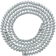 36 Carat Total Weight Platinum Diamond Double Necklace