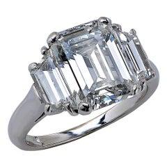 David Webb 3.02 Carat GIA Certified Diamond Platinum Ring