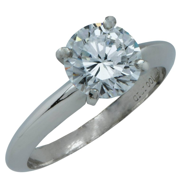 GIA Graded 1.24 Carat Diamond Platinum Solitaire Engagement Ring