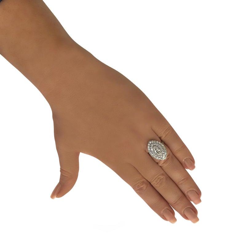 Art Deco 1.04 Carat Marquise Cut Diamond Platinum Ring In Excellent Condition For Sale In Miami, FL