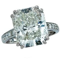 7.05 Carat Radiant Cut Diamond Platinum Engagement Ring