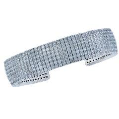 13 Carat Diamond Cuff Bracelet