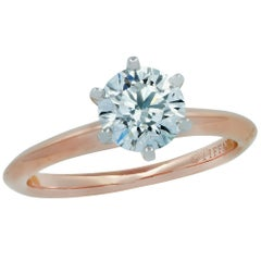 Tiffany & Co. .95 Carat Round Brilliant Cut Diamond Engagement Ring