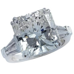 10.26 Carat Radiant Cut Diamond Engagement Ring