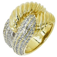 David Yurman 1.20 Carat Diamonds Gold Ring