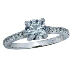 GIA Certified .98 Carat Diamond Engagement Ring