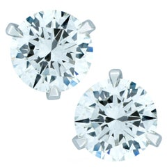 GIA Certified 1.81 Carat Diamond Solitaire Stud Earrings
