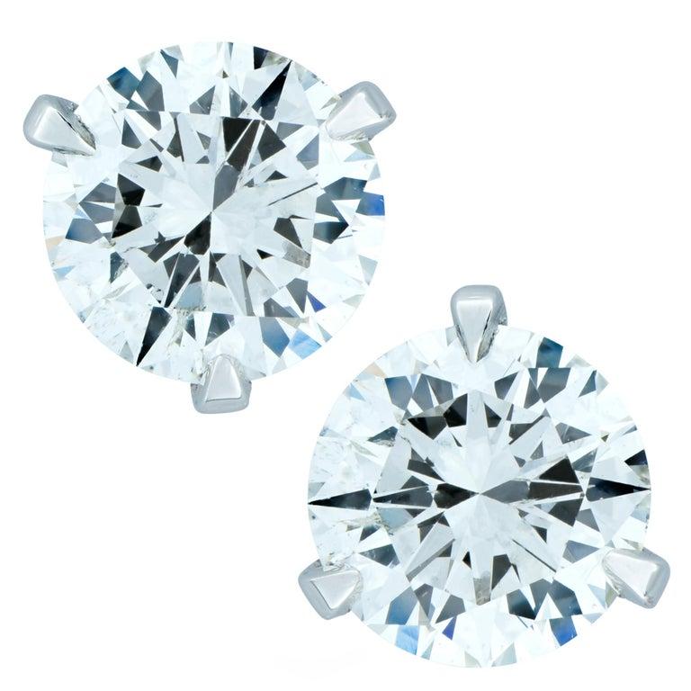 GIA Certified 1.81 Carat Diamond Solitaire Stud Earrings