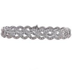 Diamond and White Gold Bracelet