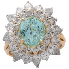 Tourmaline and Diamond Ballerina Ring